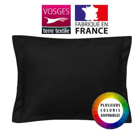 Taie d'oreiller rectangle - 50 x 75 cm - 100% coton - France