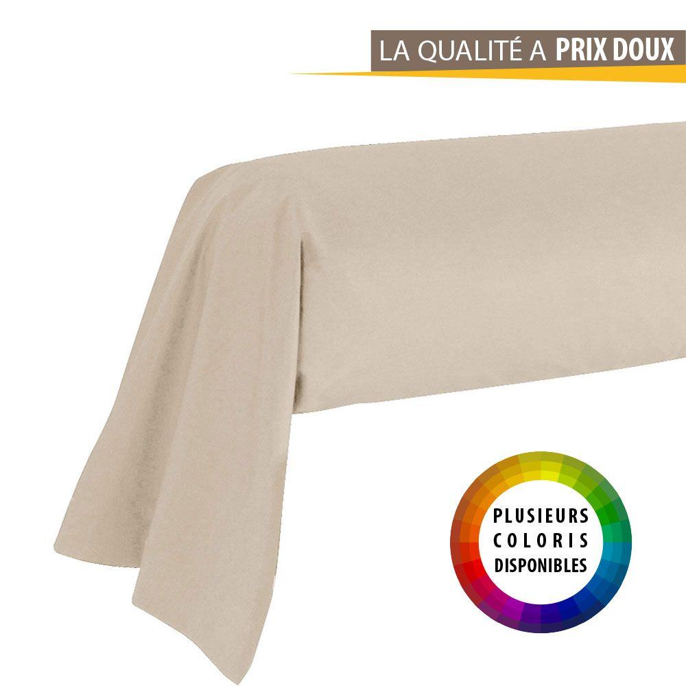 Taie de traversin - 45 x 185 cm - Today - Différents coloris : Couleur:Corail