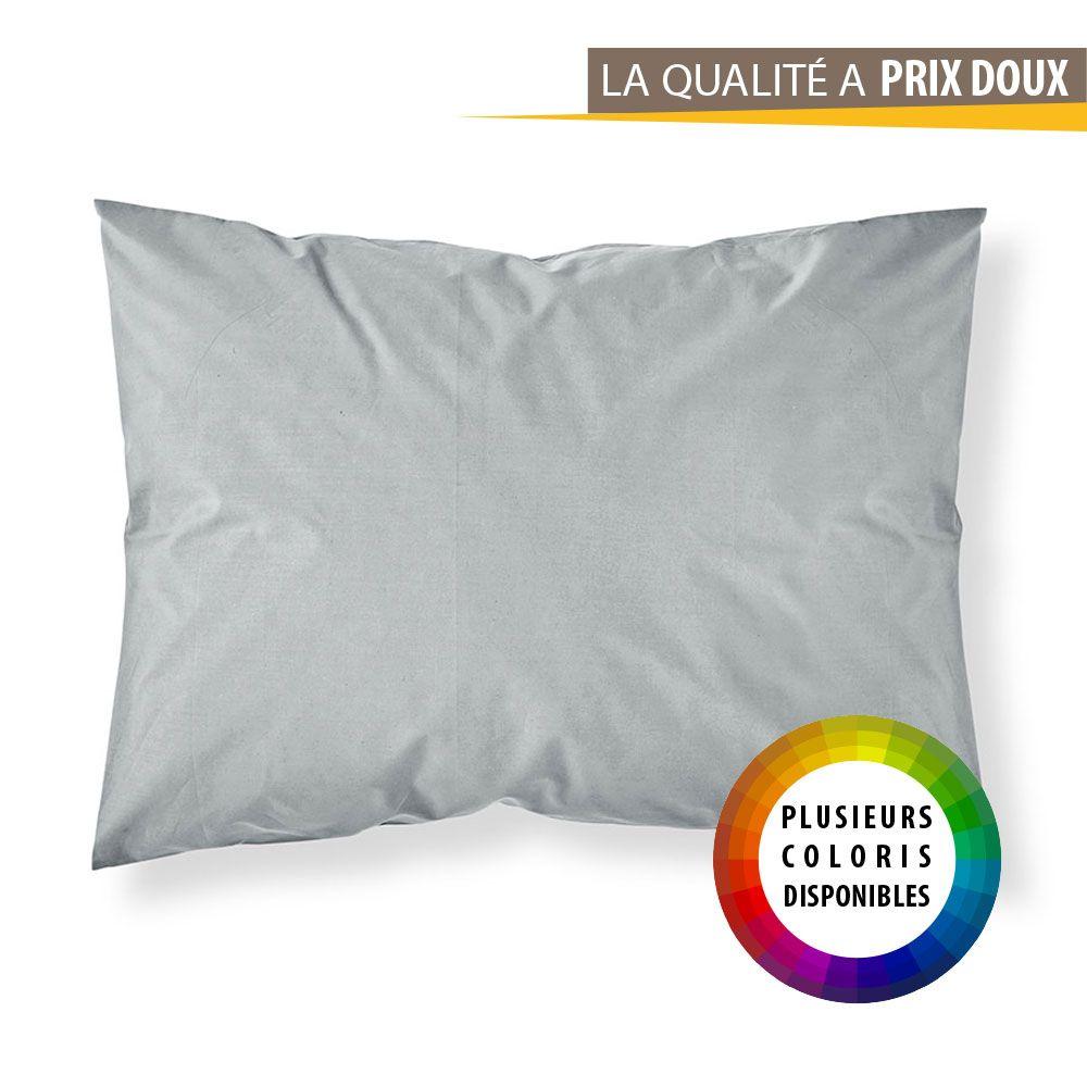 Taie d'oreiller rectangle - 50 x 70 cm - Différents coloris : Couleur:Pomme d'amour