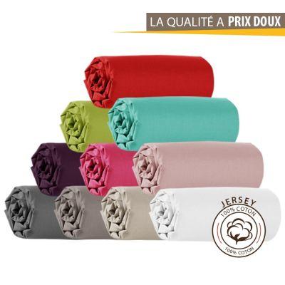 Drap housse Jersey - 140 x 190 cm - 100% coton - 120 gr/m2