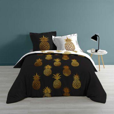 Housse de couette - 240 x 260 cm + taies - Ananas