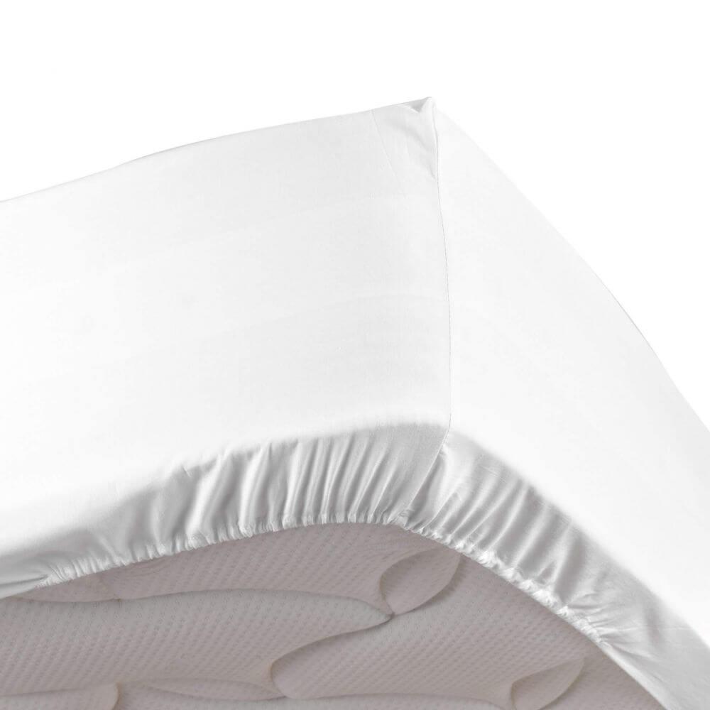 Drap housse - 140 x 190 cm - Percale - 78 fils - Uni : Couleur:Blanc