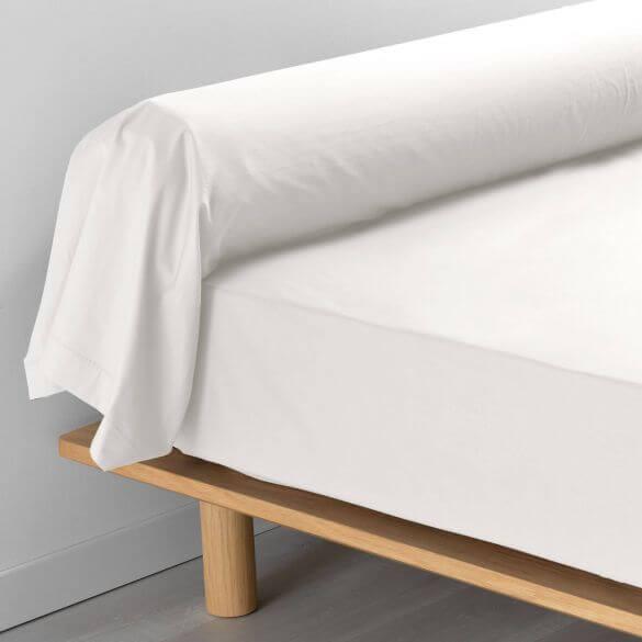 Taie de traversin - 85 x 185 cm - Percale - 78 fils - Uni