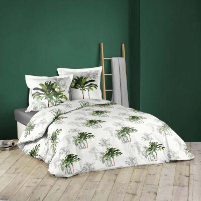 Housse de couette - 220 x 240 cm + taies - Palmiers