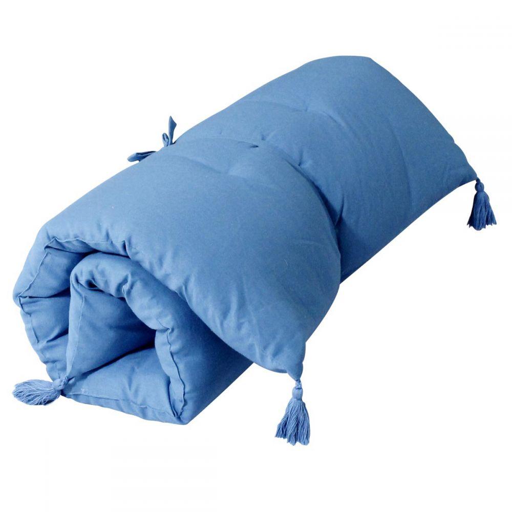 Banquette futon - 60 x 120 cm - Uni : Couleur:Bleu