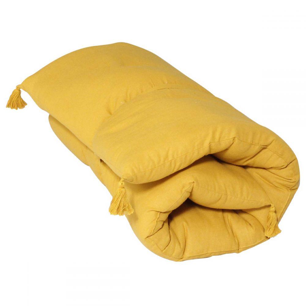 Banquette futon - 60 x 120 cm - Uni : Couleur:Moutarde