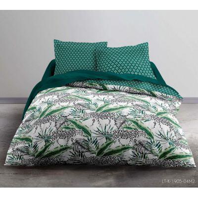 Housse de couette - 220 x 240 cm + taies - Feuillage tropicale