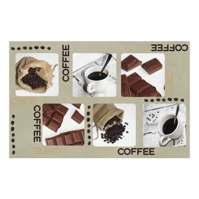 6 sets de table plastique - Coffee