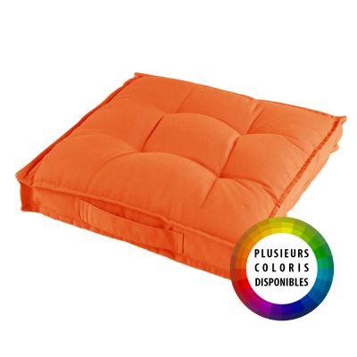 Coussin de sol garni - 40 x 40 cm x 4 cm - Paolo - Différents coloris