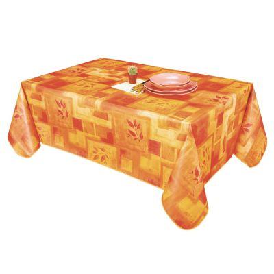 Nappe  - Toile cirée - Rectangle  - 140 x 115 cm - Orange