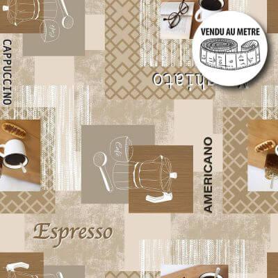 Toile cirée au mètre - Largeur 140 cm - Café