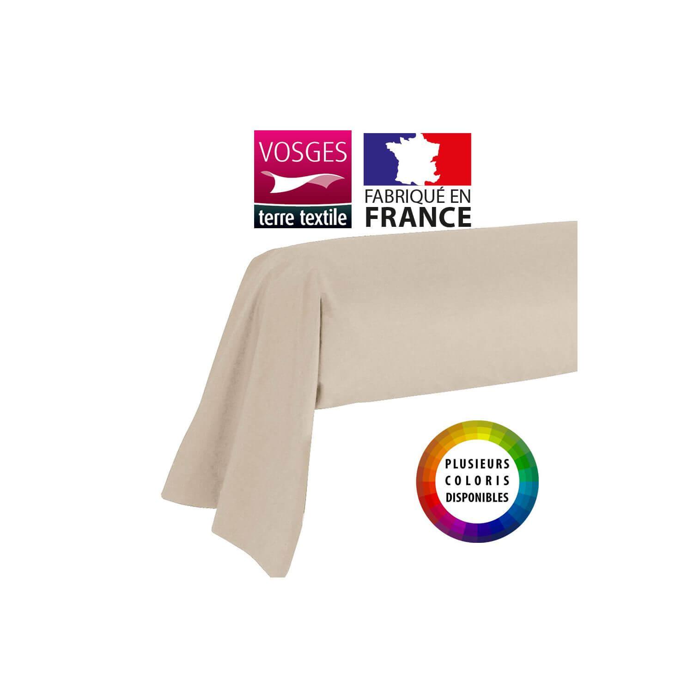 Taie de traversin - 43 x 185 cm - 100% coton - France