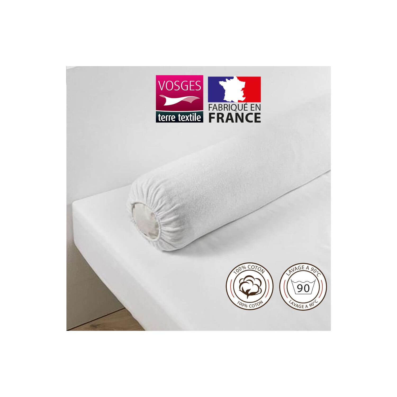 Housse protège traversin (traversin 160 cm) - 100% coton - France