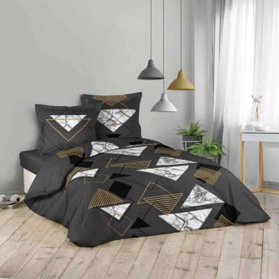 Housse de couette - 240 x 220 cm + taies - imprime 42 fils - moderne