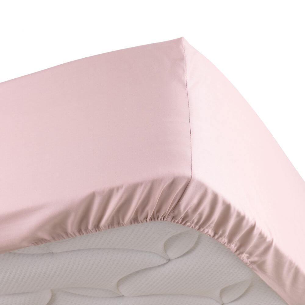 Drap housse - 140 x 190 cm - Percale - 78 fils - Uni : Couleur:Rose
