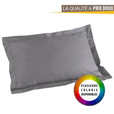 Taie d'oreiller rectangle - 50 x 70 cm - Point bourdon - 57 fils - Uni