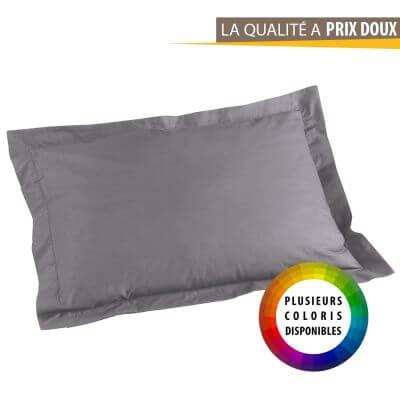 Taie d'oreiller rectangle - 50 x 70 cm - Point bourdon - 57 fils - Uni