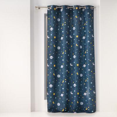 Rideau - Oeillets - 140 x 260 cm - Planète