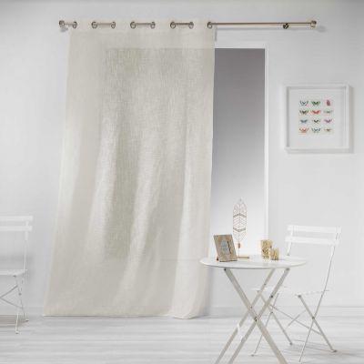 Rideau - Oeillets - 140 x 280 cm - Naturel