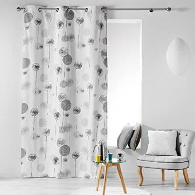 Rideau - Oeillets - 140 x 280 cm - Pissenlits