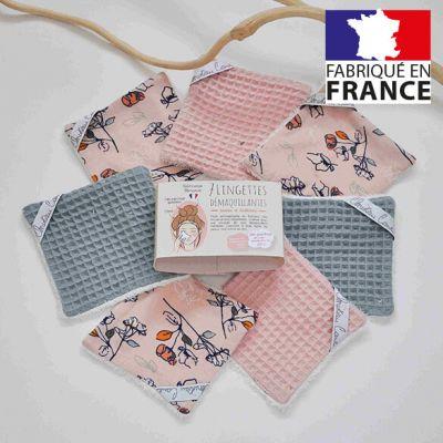 7 Lingettes démaquillantes lavables et réutilisables - Made in France