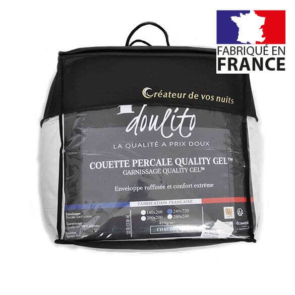 Couette hiver percale - 240 x 220 cm - 450g/m² France -