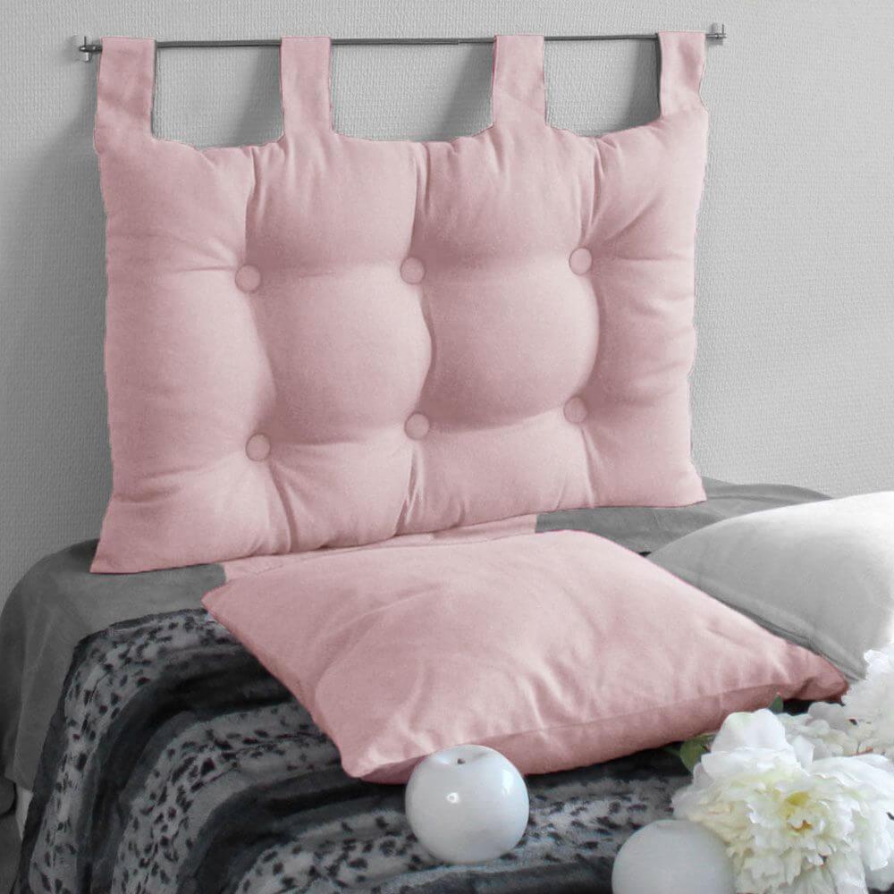 Tête de lit à pattes - 45 x 70 cm - Différents coloris : Couleur:Rose