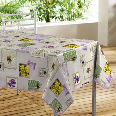 Nappe toile cirée rectangle - 140 x 240 cm - Olives