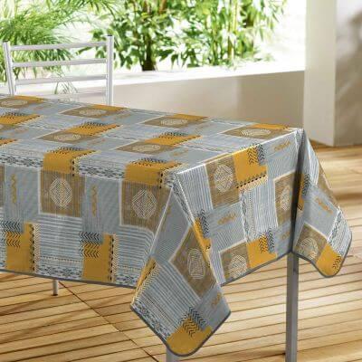 Nappe toile cirée rectangle - 140 x 240 cm - Motifs graphiques
