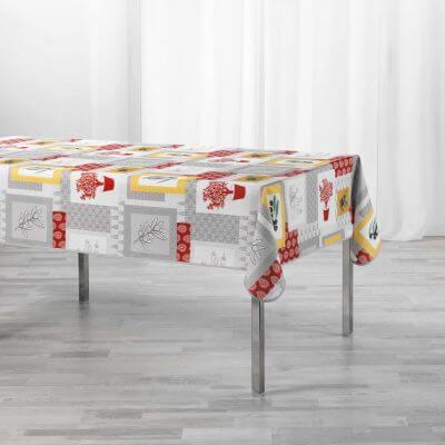 Nappe antitache rectangulaire - 150 x 240 cm - Polyester - Florale
