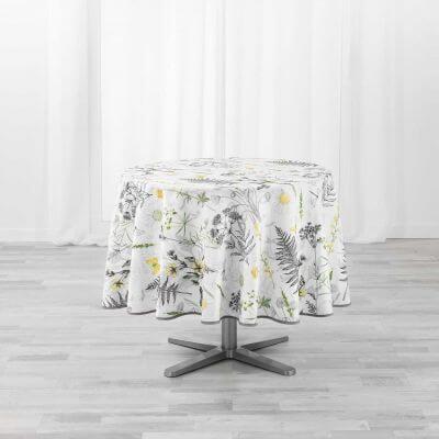 Nappe antitache ronde - Diamètre 180 cm - Florale