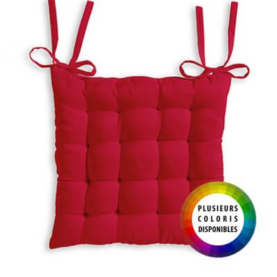 Galette de chaise matelassée - Coton - 40 x 40 cm