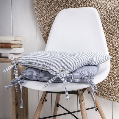 Galette de chaise - 40 x 40 cm - Rayures