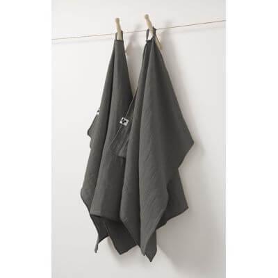 Lot de 2 essuie-mains Gaze de coton 50 x 70 cm