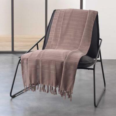 Jeté de canapé à franges - 220 x 240 cm - Coton