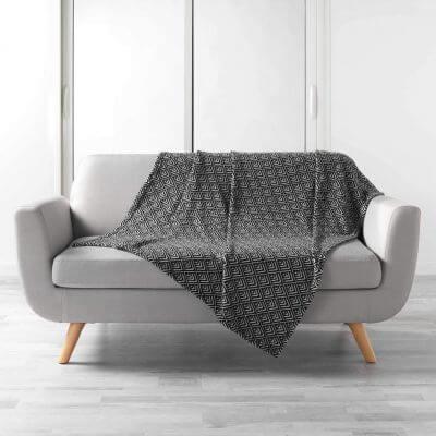 Plaid - 125 x 150 cm - Noir et Blanc