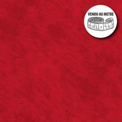 Toile cirée au mètre - Largeur 140 cm - Effet béton ciré - Rouge