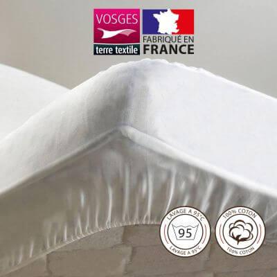 Protège-matelas - 90 x 190 cm - Molleton - France