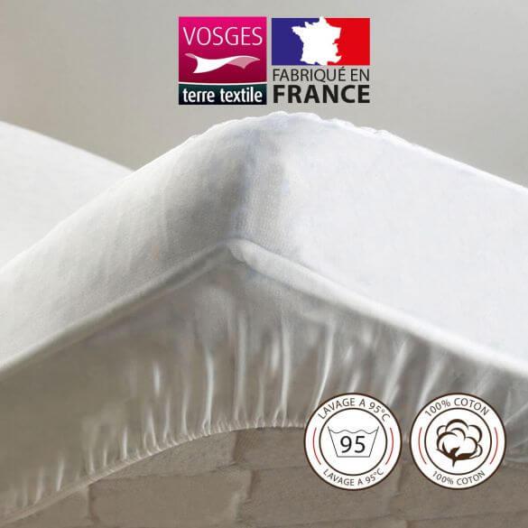 Protège-matelas - 150 x 190 cm - Molleton - France