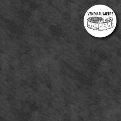 Toile cirée au mètre - Largeur 140 cm - Effet béton ciré - Noir