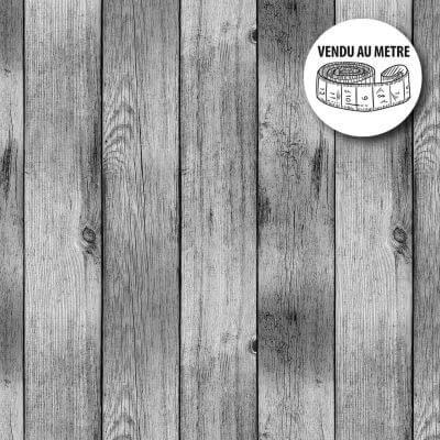Toile cirée au mètre - Largeur 140 cm - Effet bois - Gris