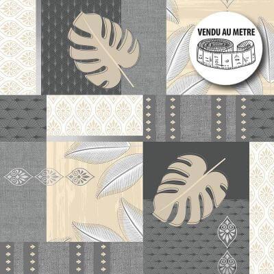 Toile cirée au mètre - Largeur 140 cm - Feuilles et motifs graphiques