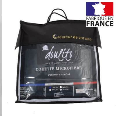 Couette microfibre - 140 x 200 cm - 350g/m² - Made in France