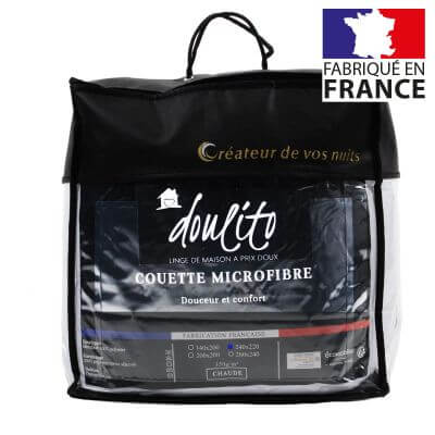 Couette microfibre - 240 x 220 cm - 350g/m² - Made in France
