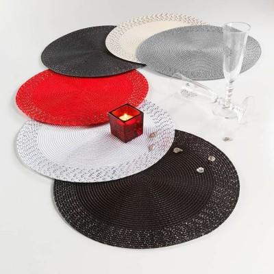 6 sets de table rond diam 38 cm