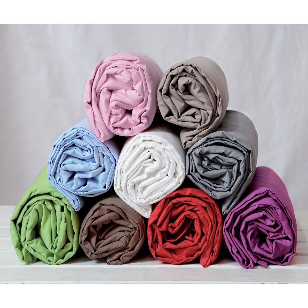 Drap housse Jersey - 90 x 190 cm - 100% coton - 120 gr/m2 : Couleur:Anis