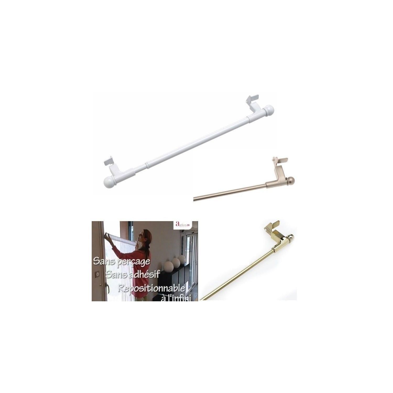 Tringle Extensible Sans Fixation barre extensible - press and go - 80 à 110 cm