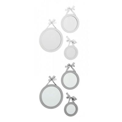 3 miroirs ronds avec ruban