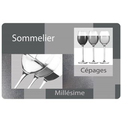 6 sets de table opaques - Sommelier