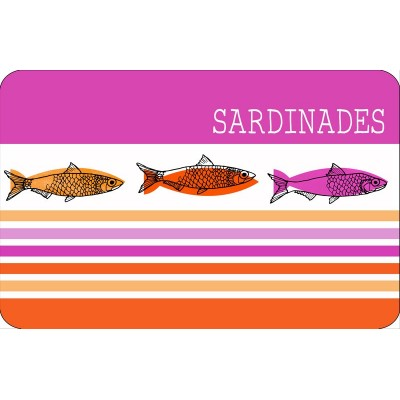 6 sets de table opaques - Sardinades - Rose